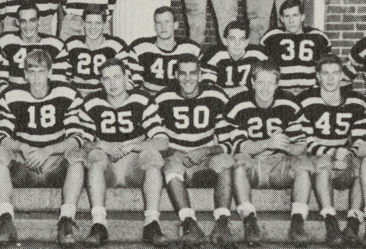 Groton School's football team in the 1950s