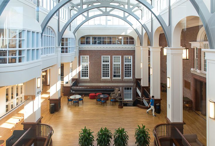 The new Sackett Forum at the center of the Schoolhouse addition