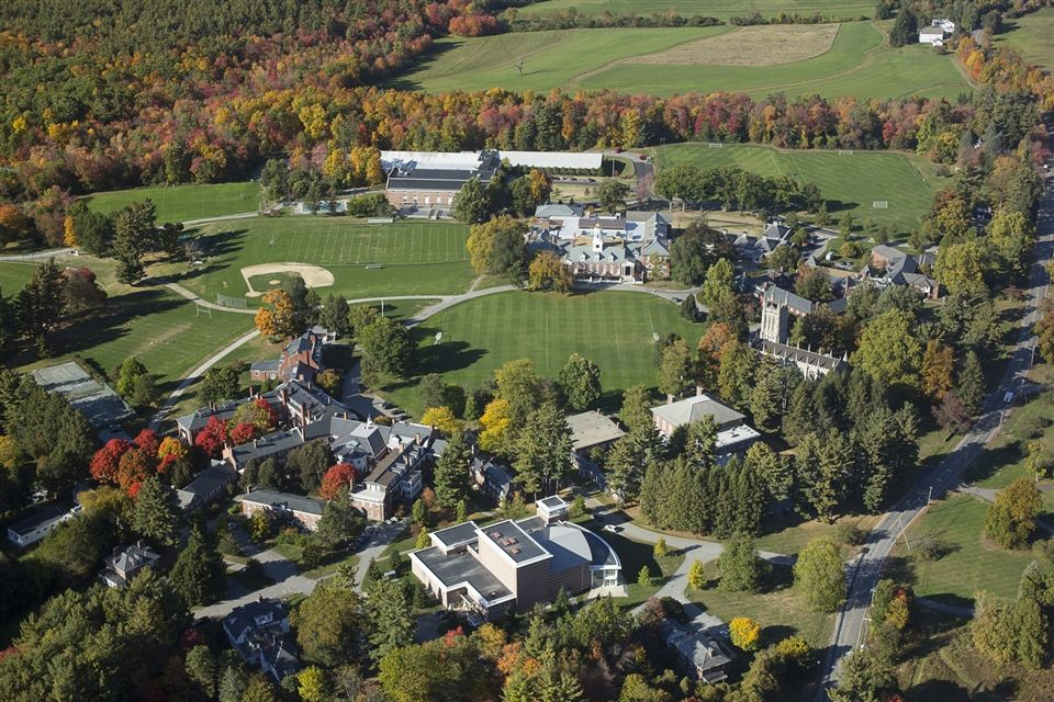 Groton School's campus, aerial view