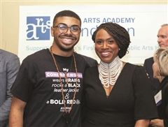Danny Rivera '15 and Congresswoman Ayanna Pressley.
