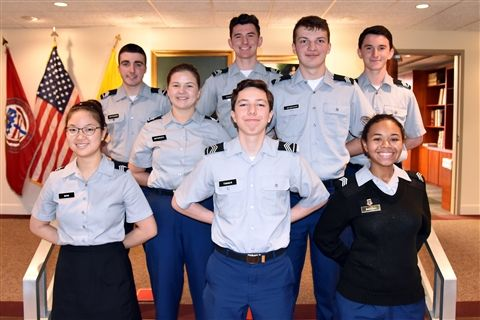 Front row: Leena Shin, Andrew Timmer and Jayden Baiyewu; second row: Sydney Antonucci and Zachary Magrogan; back row: Jacob Patterson, Danny Cohen and Tommy Cohen. Not pictured: Alexander Brown.