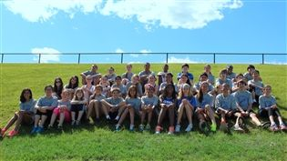 Members of the 2014 Middle School track and field team.