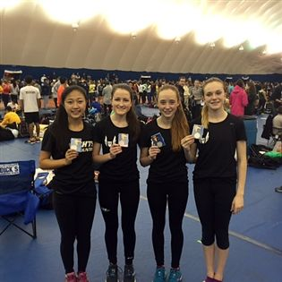 The girls' distance medley relay squad.