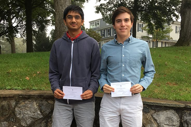 Rishi Sreekanth and Jacob Lafferty have been named 2019 National Merit Commended Students.