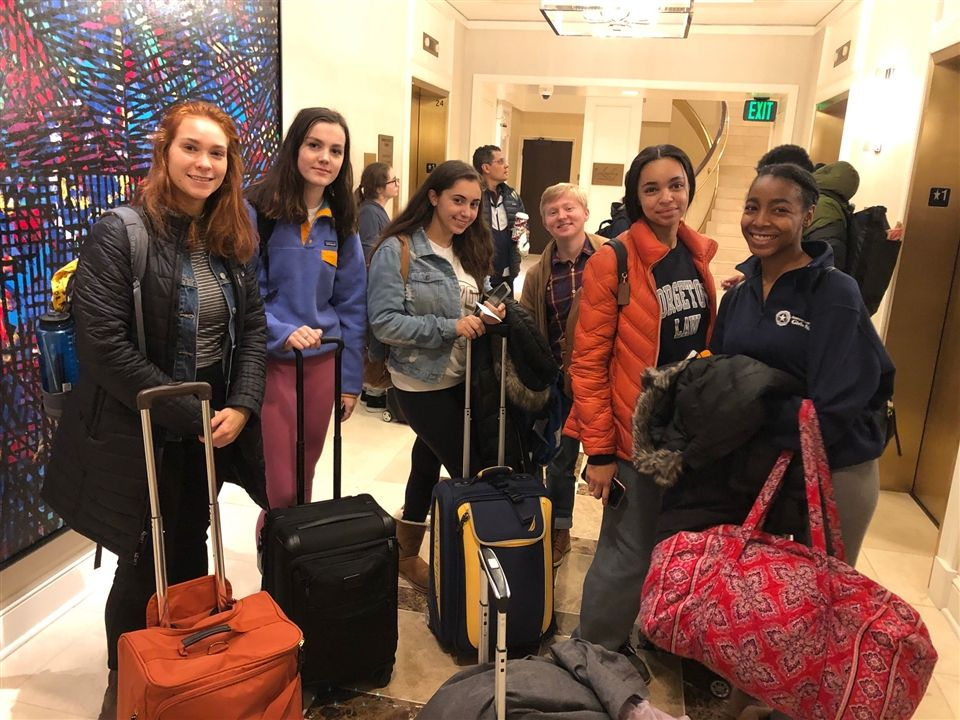 Upper School students Melissa Daniels, Maggy Ross, Alle Prezioso, Milo Watson, Savannah Shepherd, and Nia Naylor represented Sanford at this year's Student Diversity Leadership Conference (SDLC).