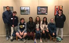 Sanford's LEAD student participants were (left to right) Nai'te Watson, Dylan Hendrix, Josh Staman, Nia Naylor, Lena Farrell, Gigi Fotakos, Julia Trask, and Lucy Madron.