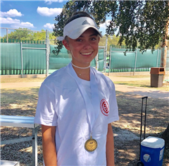3rd Place in Girls' 14 A Draw Singles - CATA Super Champ Level 4