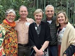 Christine Aubrey, Hank Ewert '70, Jane Louis Dryden '69, Fred Myers '71, Melody Harman
