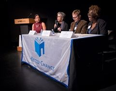 Panelists (pictured left to right): Brittany Jones, Sandra Luna, Pancho Jimenez, Lande Ajose.