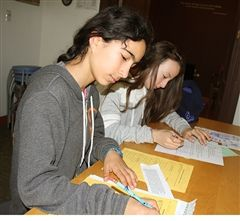 Students begin assembling their portfolios that they will present at their student-led conference.