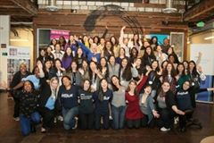 """Even More Girls – In Tech"" event, which took place at the Impact Hub in Oakland, Calif."