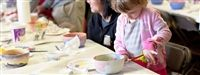 Painting bowls for St. Vincent de Paul's Empty Bowls fundraiser on March 23
