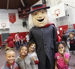 Scarlet & Gray Day is Quaker Man's favorite day of the year!