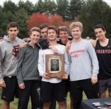 A jubilant Boys Cross-Country celebrates its second straight championship.