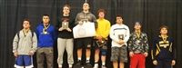 Skyler Kessenich '18, third from left, 3rd Place at MIS tournament and National Prep qualifier