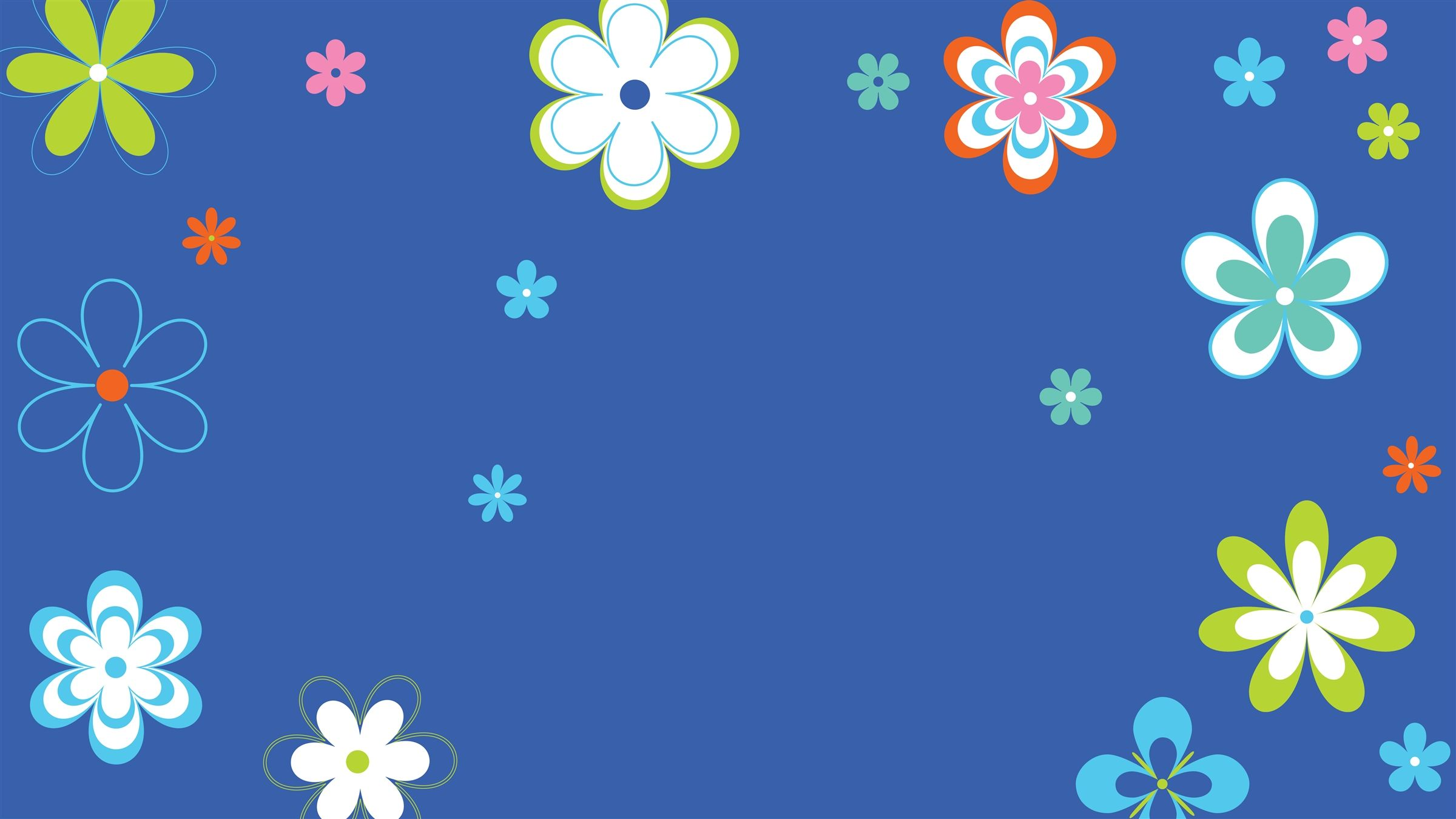 Flower Power Blue