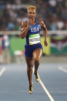 AACS talks with Olympian Natasha Hastings