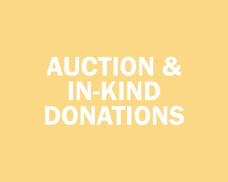 Auction and In-Kind Donations