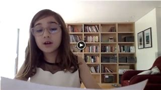 Girl Reads RC Poem