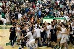 Wildcat fans storm the court!