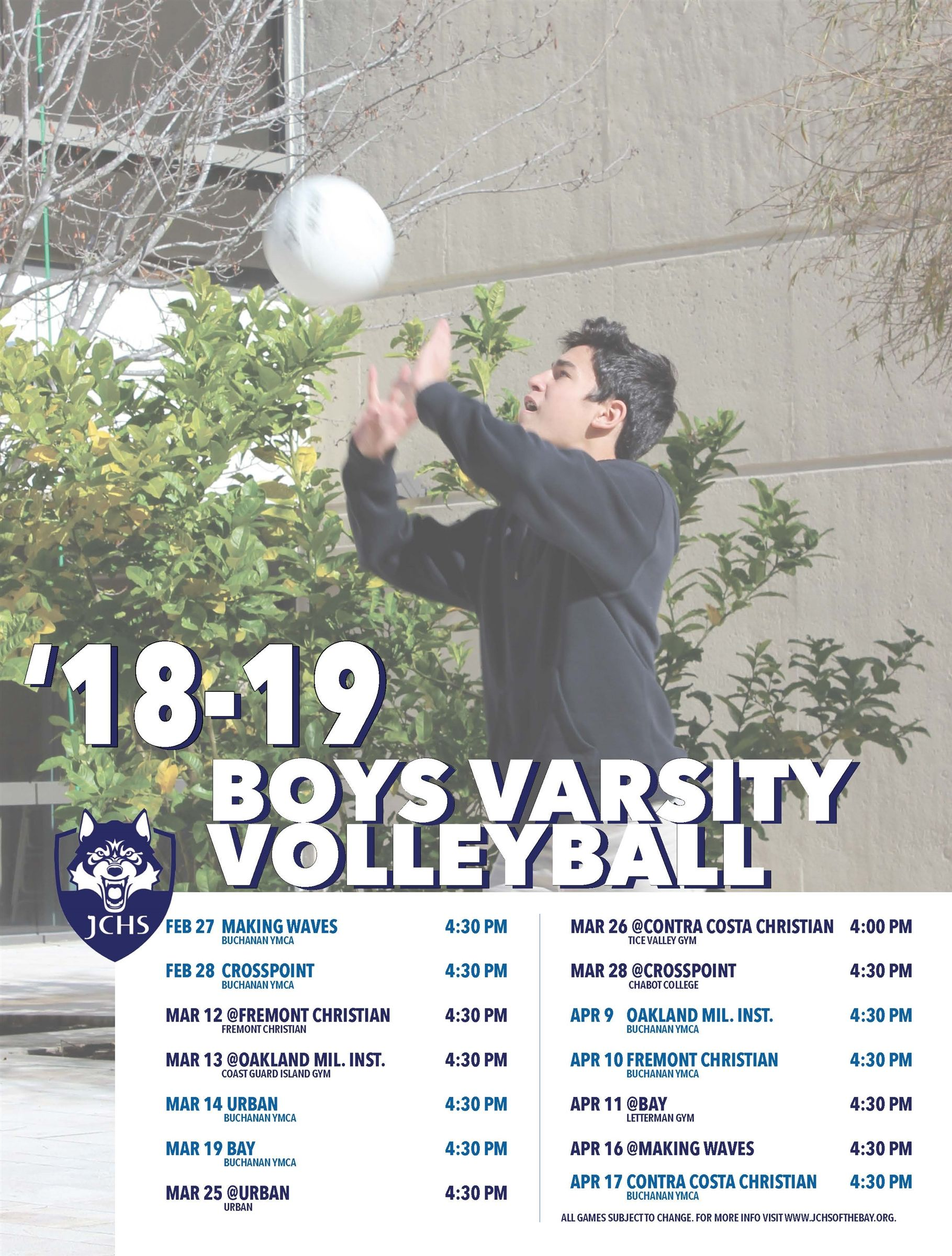 Varsity Boys Volleyball 2019