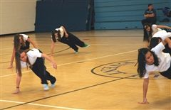 JCHS Hip Hop team in action