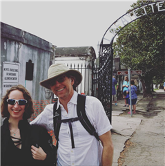 At the Lafayette Cemetery