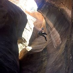 Sophomore boys canyoneering in Zion National Park