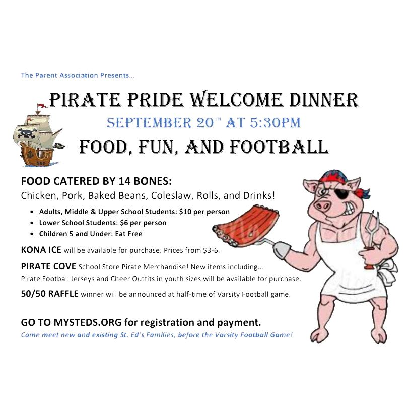 Pirate Pride Welcome Dinner Payment Link
