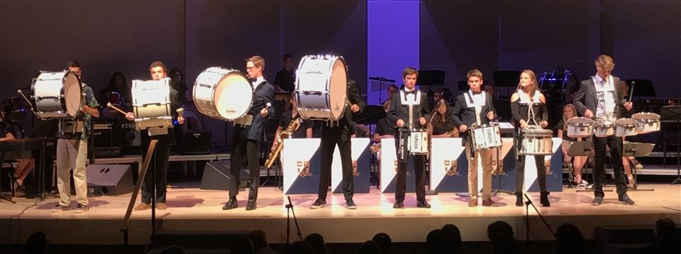 The percussion performance at last spring's instrumental concert