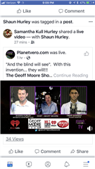 Omar Shareef and Mr. Hurley on FB Live