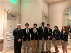 Saint Edward's School students learn about international relations with the World Affairs Council