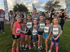 SES girls enjoy a Saturday morning run