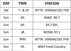 Marcia Littlejohn Radio Show air times
