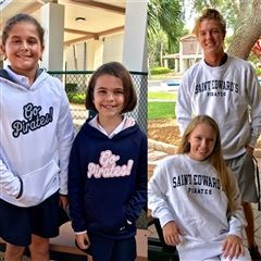 Mia Maldonado in white, Maui Henriquez in navy: $42.50.Addison Waddell and Molly McGee in Champion: $51.00.
