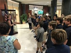 7th grade students learn about the courthouse.