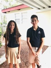 Sienna Malon (7) and Marlon Dato-Slattery (7) will bring their science fair projects to the state level.