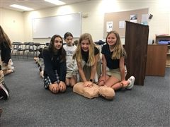 Sixth Grade Students Learn CPR