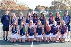 2019-20 Varsity Girls Tennis team