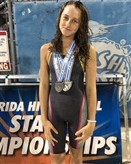 Alexandra Stern at the 2020 Class 1A State Swimming Championship