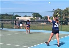MS Tennis (Blue Team) versus Sebastian River Middle School
