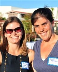 2010 Inductee: STEPHANIE KEATING '99  (on right, with fellow inductee Rosemary Sherry '99