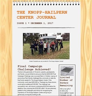 Knopp-Hailpern Center Journal, Issue 1