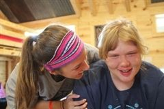 Macy and Morgan together at Camp Blessing.