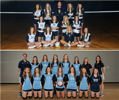 Top Photo (FM Varsity Team) - Bottom Photo (CC Varsity Team)