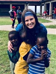Rebekah serving in Kenya this summer