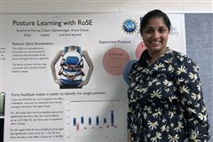 Upper School Science Teacher Aruna Chavali presents research done at Columbia University's Robotics and Rehabilitation Lab.