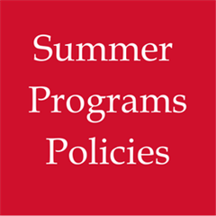 Summer Programs Policies
