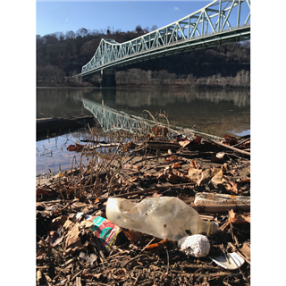 "Betsy Watters photo ""Trash Under the Bridge."""