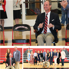 Head of School Kolia O'Connor receives chair for his 15-year tenure at the Academy.